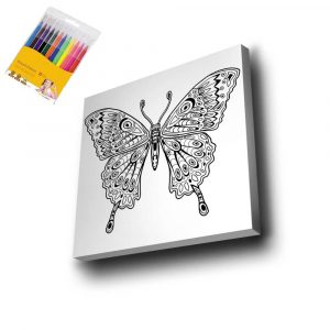 Kelebek Mandala Tuval