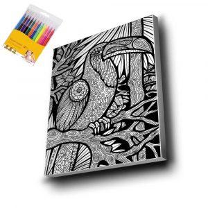 Kuş Mandala Tuval