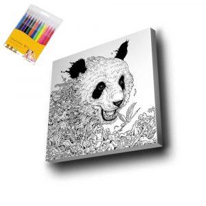 Panda Mandala Tuval