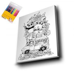 Doodle Mandala Tuval