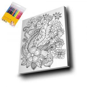Çiçek Mandala Tuval