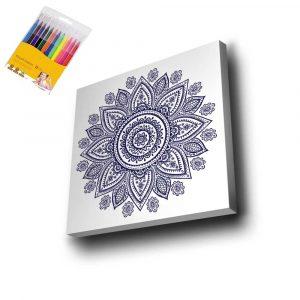 Desenli Mandala Tuval