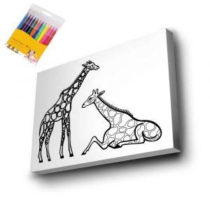 Zürafa Mandala Tuval