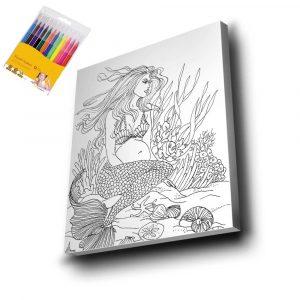 Deniz Kızı Mandala Tuval