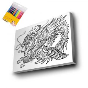 Dragon Mandala Tuval