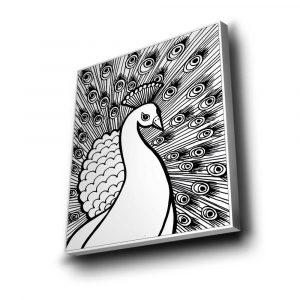 Tavuz Kuşu Mandala Tuval