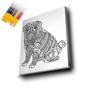 Köpek Mandala Tuval