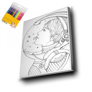 Astronot-Mandala-Tuval