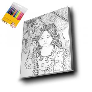 Küçük-Kız-Mandala-Tuval