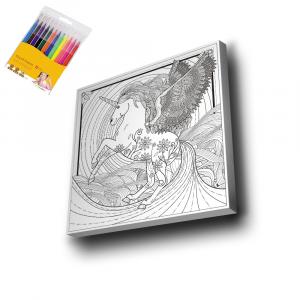 Unicorn-3-Mandala-Tuval