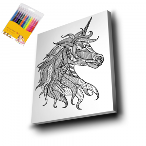 Unicorn-Mandala-Tuval